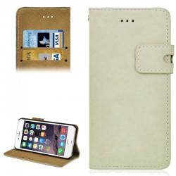 Angibabe Læder Beskyttelses Cover til iPhone 6S / 6 - Hvid