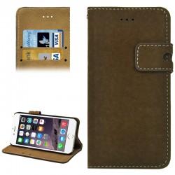 Angibabe Læder Beskyttelses Cover til iPhone 6S / 6 - Kaffe Brun