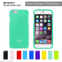 Jelly Shimmering Powder TPU Cover til iPhone 6S Plus / 6 Plus (Mintgrøn)