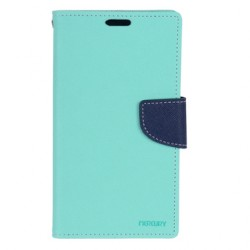 Mercury Fancy Diary Læder Cover til iPhone 5 / 5S (Mint Marineblå)
