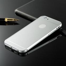 Aluminium Bumper + Bagside til iPhone 6S Plus / 6 Plus (Sølv)