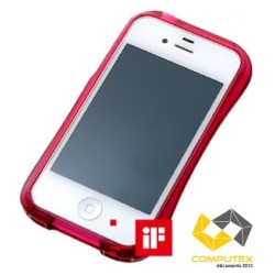 CLEAVE CRYSTAL Bumper for iPhone 4/4S-RUBY CRYSTAL