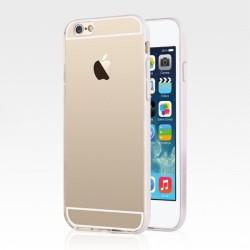 USAMS Light Series Gennemsigtig TPU bagcover til iPhone 6S/6 - Hvid