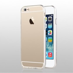 USAMS Light Series Gennemsigtig TPU bagcover til iPhone 6S/6 - Sølv
