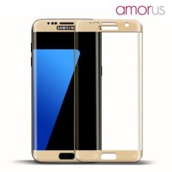 AMORUS Beskyttelsesglas 2,5D 9H til Samsung Galaxy S7 - Guld