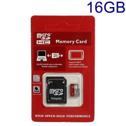 16GB High Speed MicroSD TF Memory Card med SD Adapter