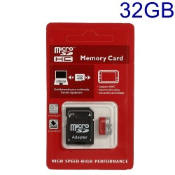 32GB High Speed MicroSD TF Memory Card med SD Adapter