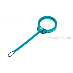 CLEAVE CRYSTAL RING FINGER STRAP-EMERALD CRYSTAL