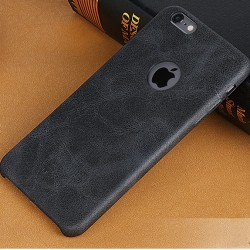 Apple iPhone 6S 6 USAMS Læder Cover Sort