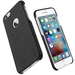 Apple iPhone 6S Plus 6 Plus LENUO Case Leather Coated PC Hard Case Black