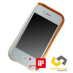 DRACO EVO ALUMINUM BUMPER FOR iPhone 4/4S-SONIC ORANGE