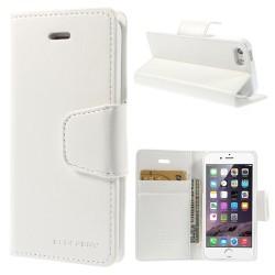 Apple iPhone SE 5S 5 MERCURY Sonata Diary Læder Pung Hvid