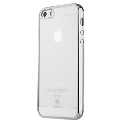 Apple iPhone SE 5S 5 BASEUS Skinnende Gele TPU Cover Silver