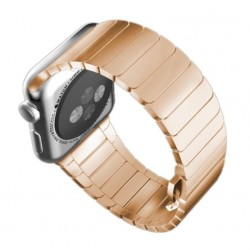 Apple Watch 42 mm Rustfrit Stål Armbånd med Butterfly Lukning Rose Guld