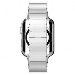Apple Watch 42 mm Rustfrit Stål Armbånd med Butterfly Lukning Sølv
