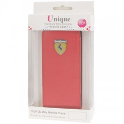 Apple iPhone SE 5S 5 Ferrari Series Læder Cover Rød