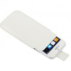 Apple iPhone SE 5S 5C 5 Litchi Mønstre Læder Cover Pose Hvid