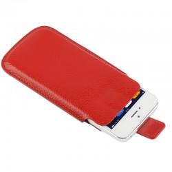 Apple iPhone SE 5S 5C 5 Litchi Mønstre Læder Cover Pose Rød