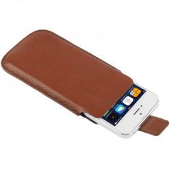 Apple iPhone SE 5S 5C 5 Litchi Mønstre Læder Cover Pose Coffe