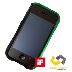 DRACO EVO ALUMINUM BUMPER FOR iPhone 4/4S-ULTIMATE GREEN