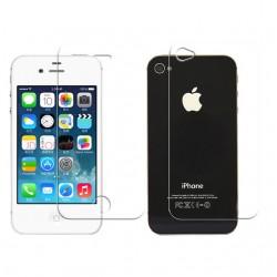 iPhone 4/4S BLUE STAR Beskyttelsesglas Sæt med Front og Bag