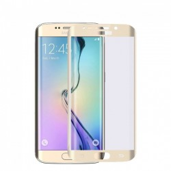 Samsung Galaxy S7 Edge BLUE STAR Beskyttelsesglas Full Coverage - Guld