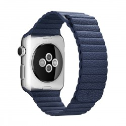 Apple Watch 42mm Loop Magnetisk Closure Clasp PU Læder Armbånd Blå