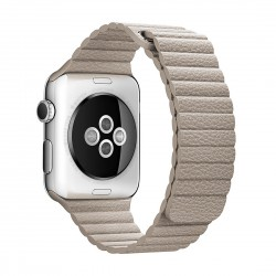 Apple Watch 42mm Loop Magnetisk Closure Clasp PU Læder Armbånd Sten