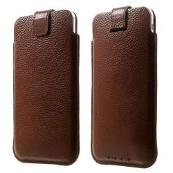 Apple iPhone 6 Plus 6S Plus 7 Plus Samsung S7 Edge Pull Tab Ægte Læder Etiu 16 x 9cm Brun