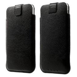 """Apple iPhone 7 6S 6 Pull Tab Ægte Læder Etiu 4,7"""" Sort"""