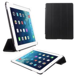 4-fold Slim Smart Etui Companion Cover til iPad 4 / new iPad (iPad 3) / iPad 2 (Sort)