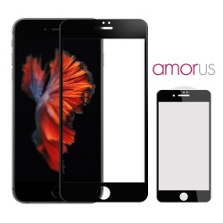 iPhone 7 Plus / 8 Plus AMORUS Beskyttelsesglas Full Coverage Sort