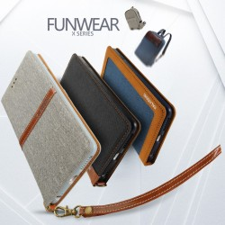 Apple iPhone 7 KLD Funwear X Series Læder Pung Cover Blå