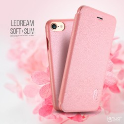 Apple iPhone 7 LENUO Ledream Slim Læder Cover Pink