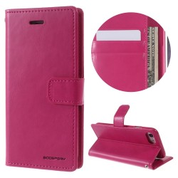 Apple iPhone 7 MERCURY GOOSPERY Blue Moon Læder Etui Pink