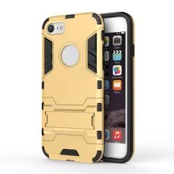 Apple iPhone 7 Solid TPU Hybrid Cover med Støtte Guld