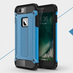 Apple iPhone 7 Armor Guard Plastik TPU Hybrid Cover Lyseblå