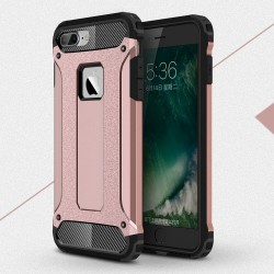 Apple iPhone 7 Armor Guard Plastik TPU Hybrid Cover Pink
