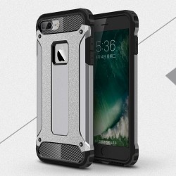 Apple iPhone 7 Armor Guard Plastik TPU Hybrid Cover Grå