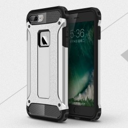 Apple iPhone 7 Armor Guard Plastik TPU Hybrid Cover Sølv