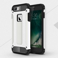 Apple iPhone 7 Armor Guard Plastik TPU Hybrid Cover Hvid