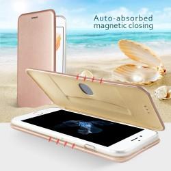 Apple iPhone 7 Plus Magnetisk Læder Støtte Cover Gold
