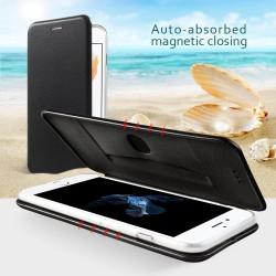 Apple iPhone 7 Plus Magnetisk Læder Støtte Cover Sort
