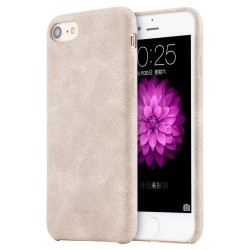 Apple iPhone 7 Plus USAMS Crazy Horse Læder Bag Cover Cream