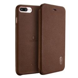 Apple iPhone 7 Plus LENUO Ledream Slim Læder Etui Brun