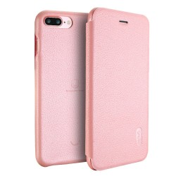 Apple iPhone 7 Plus LENUO Ledream Slim Læder Etui Pink