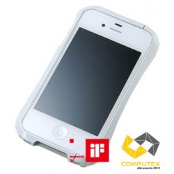LIMITED EDITION DRACO IV Japanese 3D Curves Aluminum Bumper for iPhone 4/4S-LUXURY WHITE