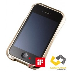 LIMITED EDITION DRACO IV Japanese 3D Curves Aluminum Bumper for iPhone 4/4S-LUXURY GOLD