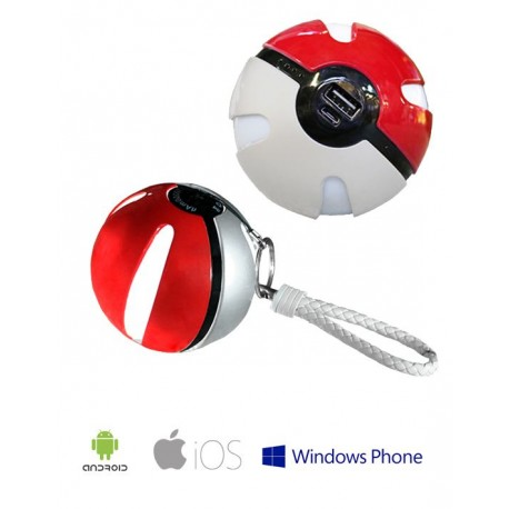 Power Bank POKEMON Go Pokeball 10000mAh til iPhone Samsung LG Sony m fl Rød