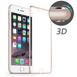 iPhone 7 / 8 HAT PRINCE Beskyttelsesglas Full Coverage 3D med Alu Kant - Rosaguld
